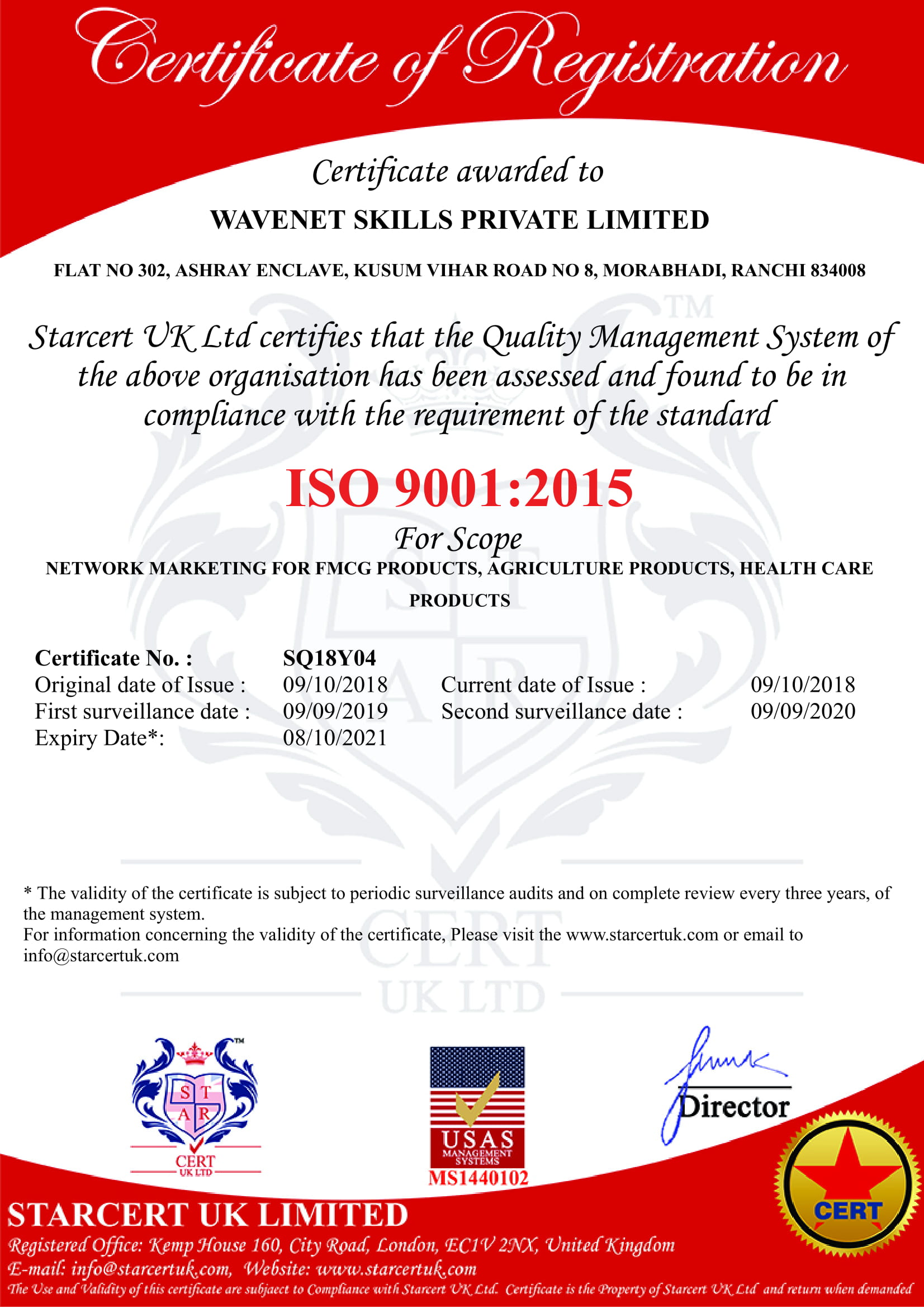 Registration certificate IMG